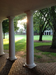 The Colonnade The University of Virginia By Mary Fesak
