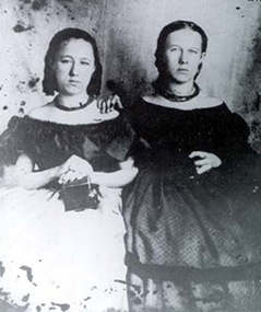 Nellie and Lucy Buck Courtesy of the Warren Heritage Society, Front Royal, Virginia